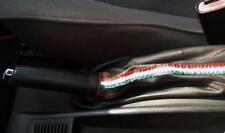 Cuffia leva freno Alfa Romeo 156 2° serie vera pelle nera + tric