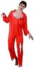 Mens Ladies Prisoner Zombie Bloody Costume Games Escaped Convict Fancy Dress