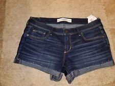 NWT Abercrombie & Fitch  Denim Midi Length Shorts Size 8