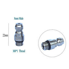 8MM Male Quick Head Connection Check Valve One Way Foster Fill Nipple Kit M8*1