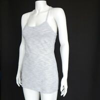 LULULEMON Breezy Back Heather Gray Tank Top Womens size 8 running yoga - 364