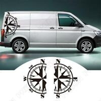 73x125cm Compass Vinyl Sticker Caravan Travel Trailer Camper Van Body Decor 2pcs