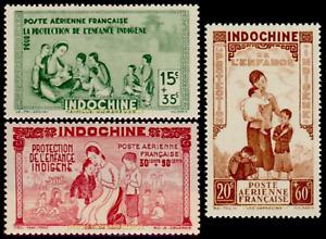 EBS French Indochina 1942 - Native Child Protection - IC PA20-PA22  MNH**