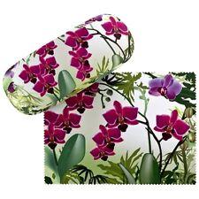 Brillenetui Hardcase Box Floral Blumen Damen Geschenk Motiv Orchideen 7520