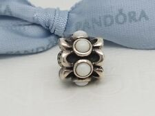 Authentic Pandora Forget-Me-Not Silver & White Agate Floral Charm  790470AGW