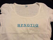 HPNOTIQ Liqueur... Ladies promo Shirt...Medium...Very Thin...White...NEW