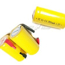 24 Sub C SubC 2500mAh Ni-Cd Rechargeable Battery Tab Y1