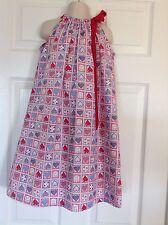 Girls Kids Children Clothing Pillowcase Summer Dress Handmade size 6.