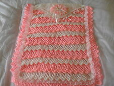"""""""NEW"""" LAYERS OF LACE BABY PRAM BLANKET KNITTING PATTERN"""
