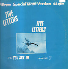 FIVE LETTERS - You Sky Me / Up And Down - Polydor - 811 577-1 - Ita 1982