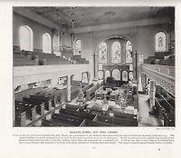 1897 Vittoriano Stampa ~ WESLEY'S Cappella Città Strada London ~ Forti ( Testo