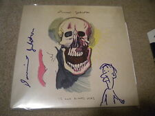 DANIEL JOHNSTON SIGNED RECORD (IS AND ALWAYS WAS)  NIRVANA W/DRAWING RARE!!!!!