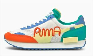 PUMA MR DOODLE FUTURE RIDER White Yellow Pear 375790-01 US 5