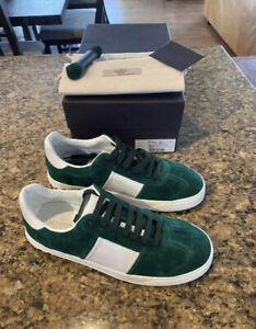 New Auth Valentino Garavani Fashion Sneakers Studded Suede Men Shoe Green 7 $675