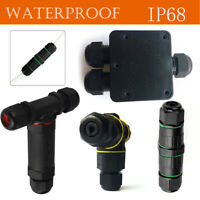 Waterproof IP68 Outdoor 3 Way Junction Box 3 Pin Electrical Cable Wire Connector