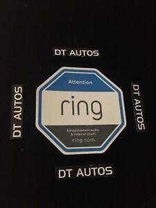 Ring Doorbell Sticker X1 Video Security Camera Sign Sticker Outdoor Safety.