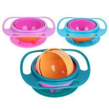 Novelty 360 Rotary Gyro Umbrella Bowl Spill-Proof Children Balance Bowl
