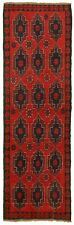 """Hand-knotted Carpet 2'8"""" x 8'1"""" Traditional Vintage Wool Rug"""