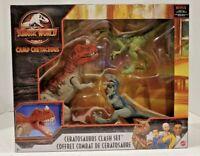 Jurassic World Camp Cretaceous Ceratosaurus + 2 Velociraptor Clash Set SHIPS NOW
