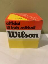 Vintage Wilson A9040 Official 12 Inch Softball New In Original Box Made In Usa