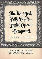 "Rodgers & Hammerstein ""CAROUSEL"" Barbara Cook / David Atkinson 1954 Playbill"