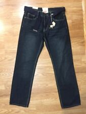 Mens Brooklyn Xpress Relaxed Straight Jeans Sz 34 Inseam 32 With Belt