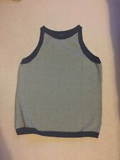 AQUASCUTUM LADY'S 100% COTTON VEST SIZE  L BNWOT MADE IN ITALY