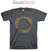 THE ELDER SCROLLS ONLINE OUROBOROS SYMBOL LARGE T-SHIRT, DARK GREY (GE1198L)