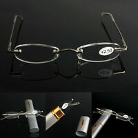 Mens Womens Eyeglass Rimless Designer Reading Glasses +1.0 - +3.0 with Box