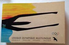 Très rare : Lexique olympique multilingue ed du Goëland et CIO, 1998, TBE