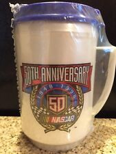 New In Unopened Package NASCAR- 50th Anniversary Travel Mug Cup