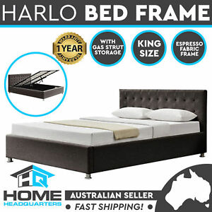 King Size Bed Frame | Espresso | Gas Lift