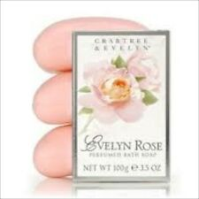 Crabtree Evelyn EVELYN ROSE Perfumed Bath  Soap Set  NIB