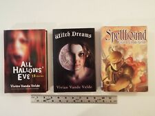3-lot-Vivian Vande Velde-All Hallows' Eve-13 Stories-Witch Dreams-Spellbound****