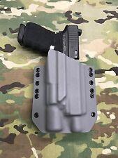 Battleship Gray Kydex Holster for Glock 19 GEN5 Threaded Barrel Surefire x300