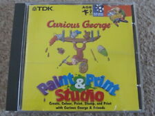 Curious George Paint and Print Studio CD ROM Children's Creative Pictures Books