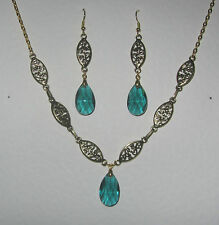 Glass Gold Plated Other Reproduction Vintage Jewellery