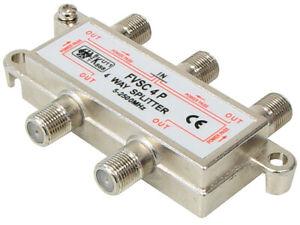SAT Verteiler 4-fach 100dB Splitter 5-2500MHz digital Kabel TV DVB-T HDTV UKW