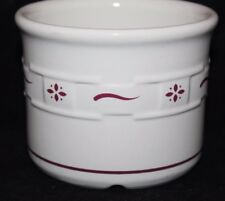 Longaberger Pottery Woven Traditions Crock Jar - Red / Ivory