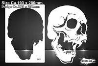 Airbrush Schablone Totenkopf Schädel - Skull Stencil