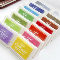 Craft Oil Based DIY Ink Pad Rubber Stamps Fabric Wood Paper Scrapbooking MD