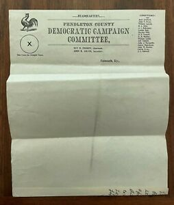 1900s letterhead Pendleton County Democratic Campaign Committee Falmouth KY