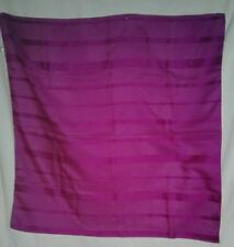 Large Fuchsia Scarf Vintage Made in Italy 30 Square Polyester Rolled Edge Ladies