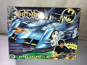 BATMAN BATMOBILE W/ DETACHABLE ROBIN MOTORCYCLE 2 IN 1 VEHICLE NEW-2003