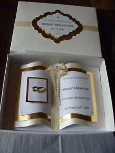 Handmade Personalised Luxury Wedding Day Card - Boxed