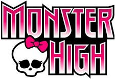 1 A5 MONSTER HIGH LOGO IRON ON T SHIRT TRANSFER WHITE/LIGHT FABRICS #1