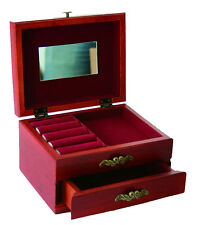 Wooden Jewellery Box with single drawer & Interior Mirror Christmas Gift
