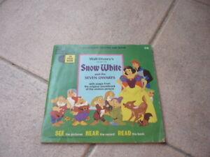 Record-Storybook-Walt Disney's-SNOW WHITE-SEVEN DWARFS-Disneyland-Jean Aubrey