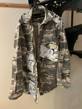 Zara Man - Relaxed Fit Camo/Cartoon Strip Jacket/Over Shirt Size XL BNWT