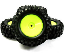 A960002 1/10 OFF ROAD ROCK CRAWLER Ruote e Pneumatici 4 LUCE VERDE DISCO 96 mm